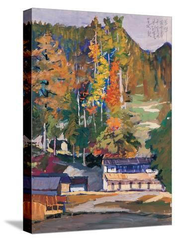 Old House in Woods-Zui Chen-Stretched Canvas Print