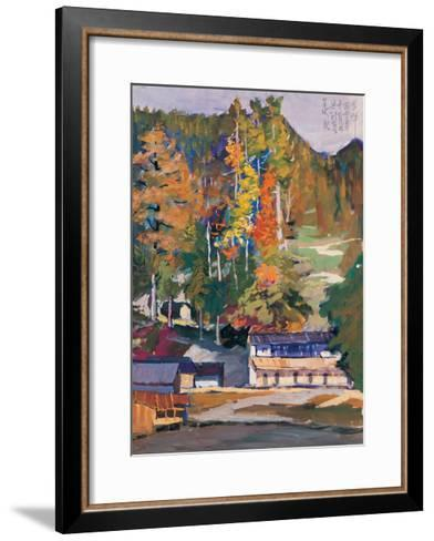 Old House in Woods-Zui Chen-Framed Art Print