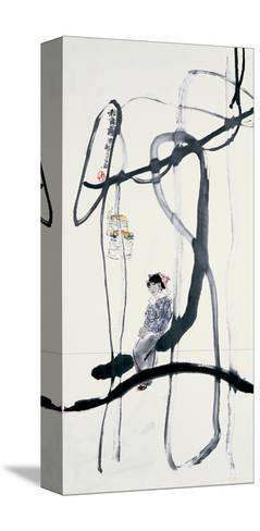 Woman on a Swing-Zui Chen-Stretched Canvas Print