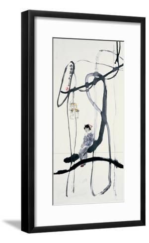 Woman on a Swing-Zui Chen-Framed Art Print