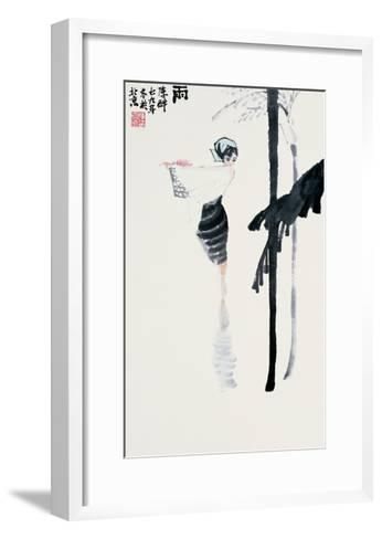 Encountering the Rain-Zui Chen-Framed Art Print