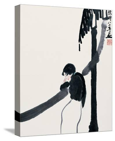 Expecting the Moon-Zui Chen-Stretched Canvas Print
