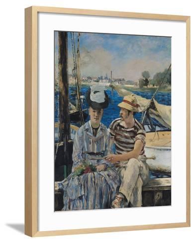 Argenteuil, 1874-Edouard Manet-Framed Art Print