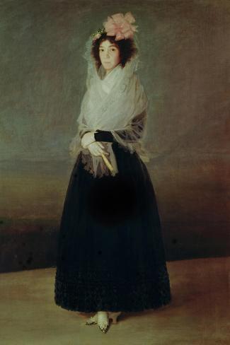Portrait of the Countess of Carpio (1757-95) Marquesa De La Solana, circa 1793-Francisco de Goya-Stretched Canvas Print