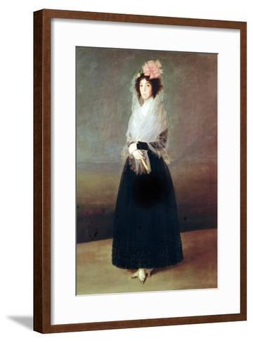 Portrait of the Countess of Carpio (1757-95) Marquesa De La Solana, circa 1793-Francisco de Goya-Framed Art Print