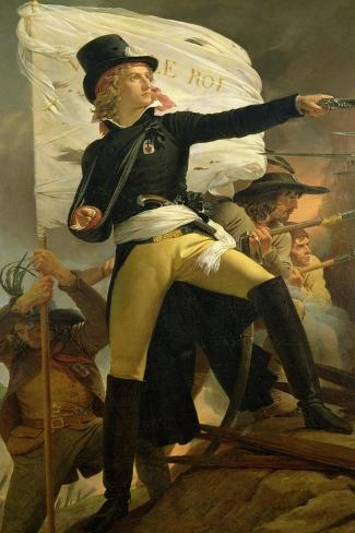 Henri De La Rochejaquelein (1772-94), Leader of the Revolt in the Vendee, 1817-Pierre Narcisse Gu?rin-Stretched Canvas Print