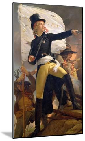 Henri De La Rochejaquelein (1772-94), Leader of the Revolt in the Vendee, 1817-Pierre Narcisse Gu?rin-Mounted Giclee Print