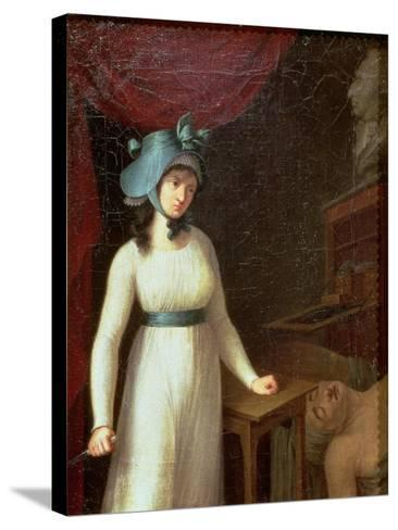 Charlotte Corday (1768-93) and the Assassination of Jean Paul Marat (1743-93), 13th July 1793--Stretched Canvas Print