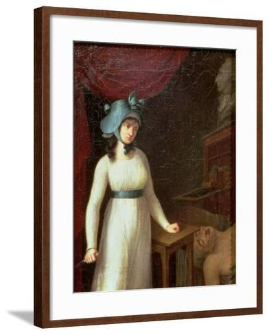 Charlotte Corday (1768-93) and the Assassination of Jean Paul Marat (1743-93), 13th July 1793--Framed Art Print