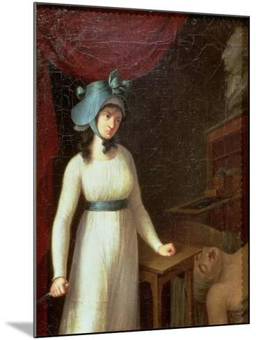 Charlotte Corday (1768-93) and the Assassination of Jean Paul Marat (1743-93), 13th July 1793--Mounted Giclee Print