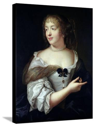 Portrait of Marie De Rabutin-Chantal, Madame De Sevigne (1626-96)-Claude Lefebvre-Stretched Canvas Print