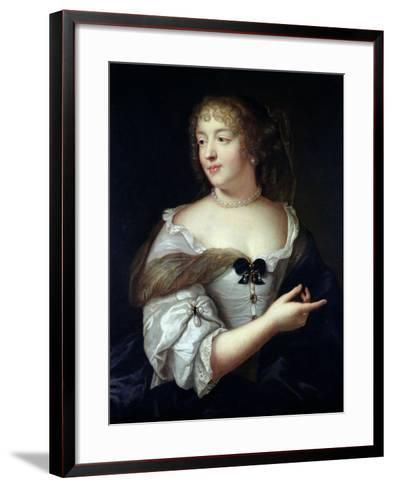 Portrait of Marie De Rabutin-Chantal, Madame De Sevigne (1626-96)-Claude Lefebvre-Framed Art Print