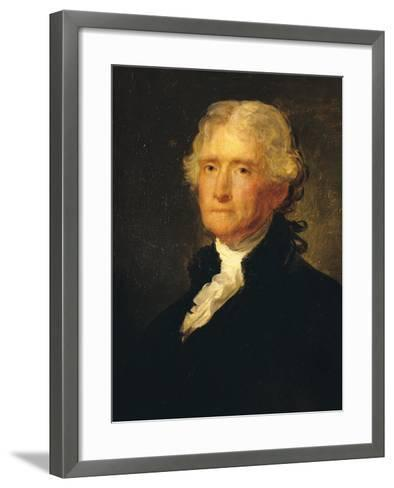 Thomas Jefferson (1743-1826) Third President of the United States of America (1801-1809)-George Peter Alexander Healy-Framed Art Print