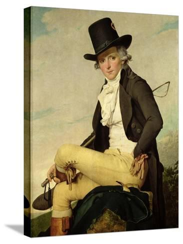 Portrait of Pierre Seriziat (1757-1847) the Artist's Brother-In-Law, 1795-Jacques-Louis David-Stretched Canvas Print