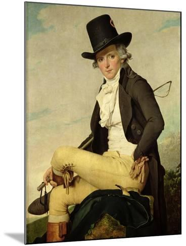 Portrait of Pierre Seriziat (1757-1847) the Artist's Brother-In-Law, 1795-Jacques-Louis David-Mounted Giclee Print