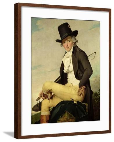 Portrait of Pierre Seriziat (1757-1847) the Artist's Brother-In-Law, 1795-Jacques-Louis David-Framed Art Print