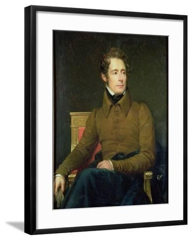 Portrait of Alphonse De Lamartine (1790-1869), 1831-Francois Gerard-Framed Art Print
