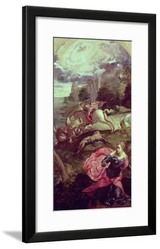 St.George and the Dragon-Jacopo Robusti Tintoretto-Framed Art Print