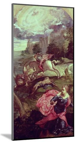 St.George and the Dragon-Jacopo Robusti Tintoretto-Mounted Giclee Print