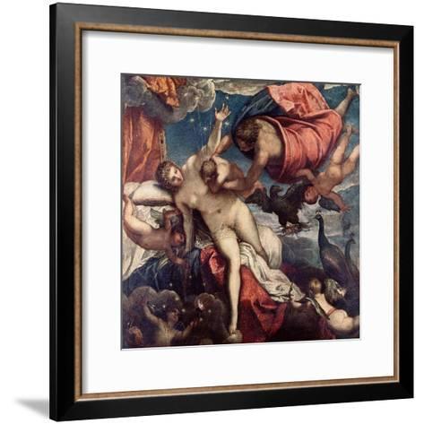 The Origin of the Milky Way, circa 1575-80-Jacopo Robusti Tintoretto-Framed Art Print