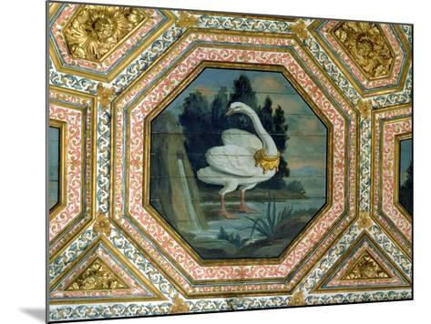Detail of the Ceiling Decoration in the Salon of the Swans, 15th Century--Mounted Giclee Print