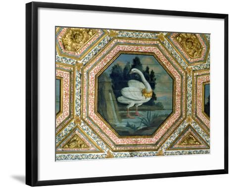 Detail of the Ceiling Decoration in the Salon of the Swans, 15th Century--Framed Art Print