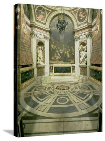 Interior View of the Octagonal Chigi Chapel, Begun by Raphael in 1513 Completed 1652-Giovanni Lorenzo Bernini-Stretched Canvas Print