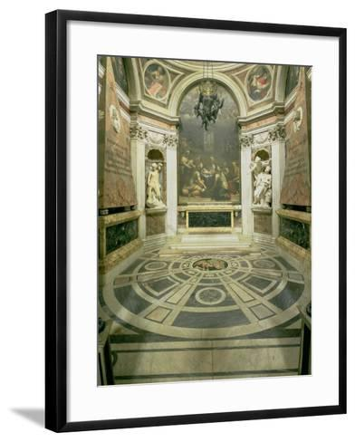 Interior View of the Octagonal Chigi Chapel, Begun by Raphael in 1513 Completed 1652-Giovanni Lorenzo Bernini-Framed Art Print