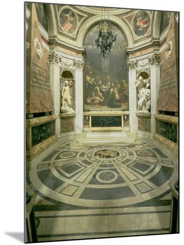 Interior View of the Octagonal Chigi Chapel, Begun by Raphael in 1513 Completed 1652-Giovanni Lorenzo Bernini-Mounted Giclee Print