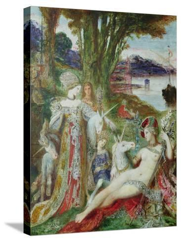 The Unicorns-Gustave Moreau-Stretched Canvas Print