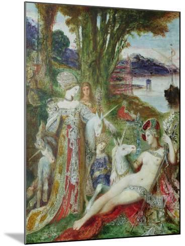 The Unicorns-Gustave Moreau-Mounted Giclee Print