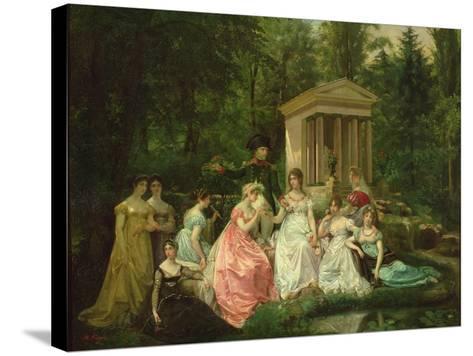 The Rose of Malmaison, circa 1867-Jean Louis Victor Viger du Vigneau-Stretched Canvas Print