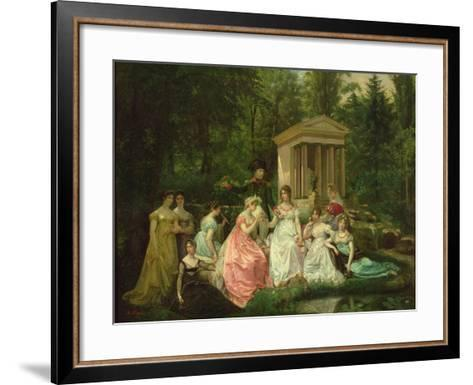 The Rose of Malmaison, circa 1867-Jean Louis Victor Viger du Vigneau-Framed Art Print