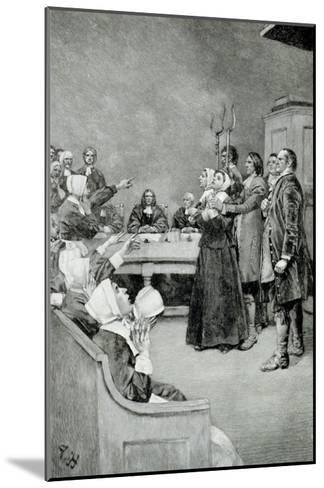"""The Trial of a Witch, from """"Giles Corey, Yeoman"""" by Mary E. Wilkins, Pub. in Harper's Magazine-Howard Pyle-Mounted Giclee Print"""
