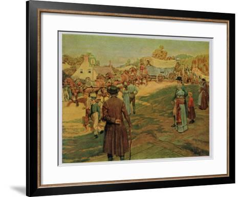 Carrying Powder to Perry at Lake Erie, 1911-Howard Pyle-Framed Art Print
