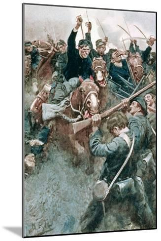 Jackson's Brigade Standing Like a Stone Wall Before the Federal Onslaught at Bull Run-Howard Pyle-Mounted Giclee Print