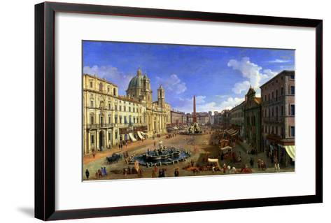 View of the Piazza Navona, Rome-Canaletto-Framed Art Print