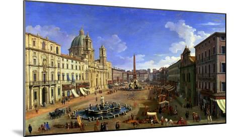 View of the Piazza Navona, Rome-Canaletto-Mounted Giclee Print