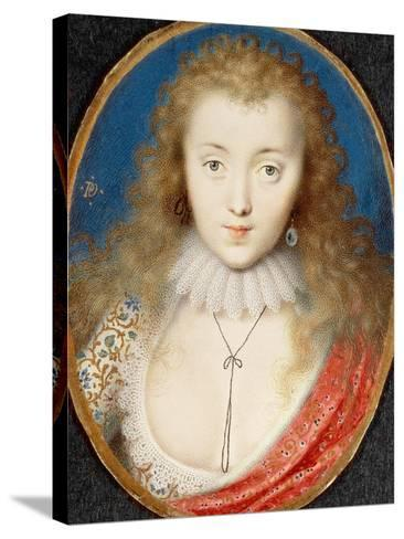 Portrait of a Girl, Probably Venetia Stanley (1600-1633), Later Lady Digby-Peter Oliver-Stretched Canvas Print