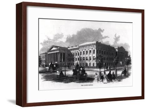 "The Patent Office, from ""Harper's New Monthly Magazine,"" 1859--Framed Art Print"