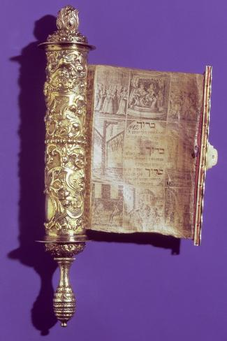 Megillah (Scroll of Esther) in a Silver Case, Vienna, circa 1715--Stretched Canvas Print