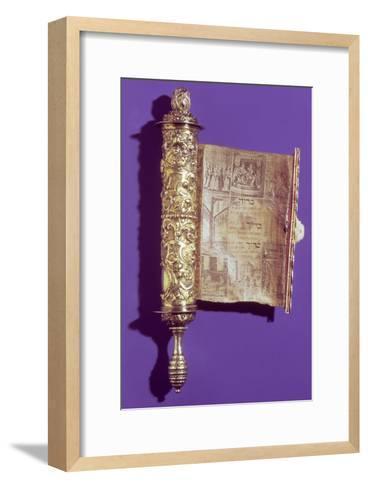 Megillah (Scroll of Esther) in a Silver Case, Vienna, circa 1715--Framed Art Print