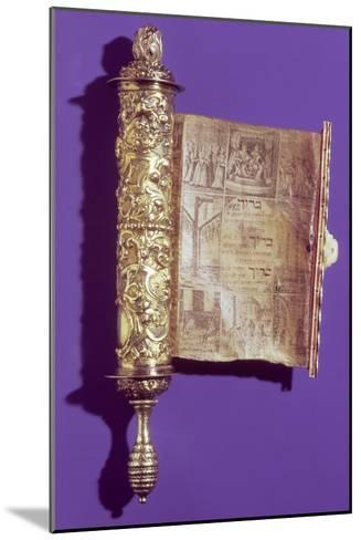 Megillah (Scroll of Esther) in a Silver Case, Vienna, circa 1715--Mounted Giclee Print