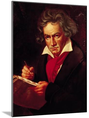 "Ludwig Van Beethoven (1770-1827) Composing His ""Missa Solemnis""-Joseph Karl Stieler-Mounted Giclee Print"