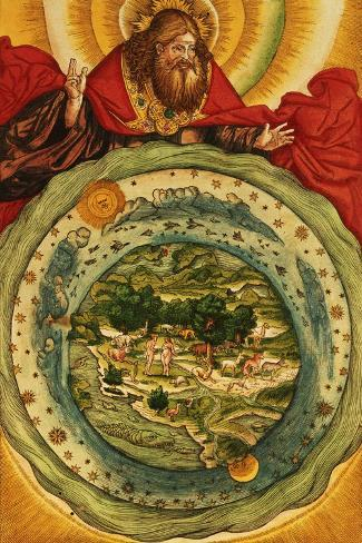 The Creation, from the Luther Bible, circa 1530--Stretched Canvas Print