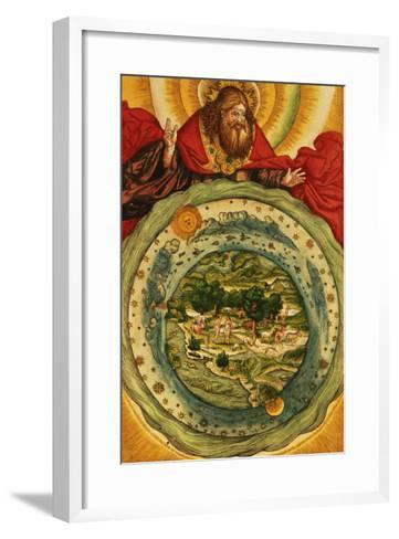 The Creation, from the Luther Bible, circa 1530--Framed Art Print