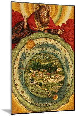 The Creation, from the Luther Bible, circa 1530--Mounted Giclee Print