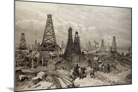 The Petroleum Oil Wells at Baku on the Caspian Sea, 19th June 1886--Mounted Giclee Print
