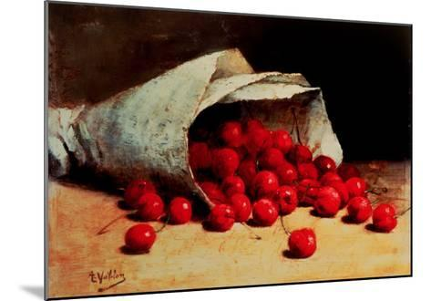 A Spilled Bag of Cherries-Antoine Vollon-Mounted Giclee Print