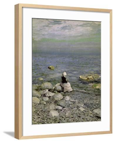 On the Shore of the Black Sea, 1890s-Konstantin A^ Korovin-Framed Art Print
